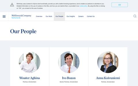 Screenshot of Team Page mckinsey.com - Our People | Netherlands | McKinsey & Company - captured Nov. 16, 2017