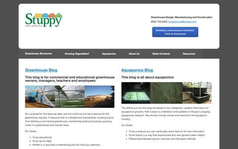Screenshot of Blog stuppy.com - Greenhouse and Aquaponics Blog - captured Dec. 18, 2016