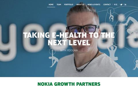 Screenshot of Home Page nokiagrowthpartners.com - Investing in growth-stage companies |Nokia Growth Partners - captured Feb. 2, 2016