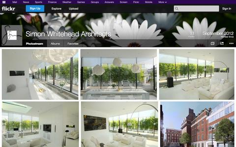 Screenshot of Flickr Page flickr.com - Flickr: Simon Whitehead Architects' Photostream - captured Oct. 23, 2014