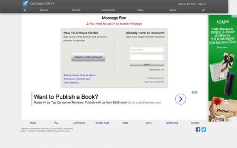 Screenshot of Contact Page critiquecircle.com - Critique Circle Online Writing Workshop - captured Dec. 25, 2016