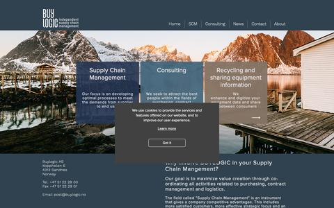 Screenshot of Home Page buylogic.no - Digitalization | Supply chain | Sandnes | Rogaland | Buylogic AS - captured Oct. 7, 2018