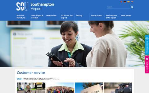 Screenshot of Contact Page southamptonairport.com - Contact Southampton Airport   Southampton Airport - captured Oct. 7, 2017
