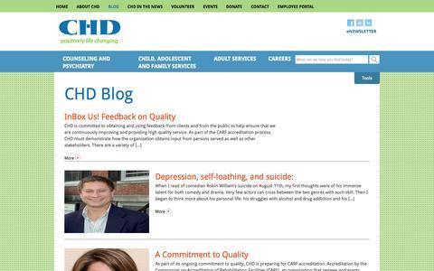 Screenshot of Blog chd.org - CHD Blog Archives | CHD - captured Oct. 2, 2014