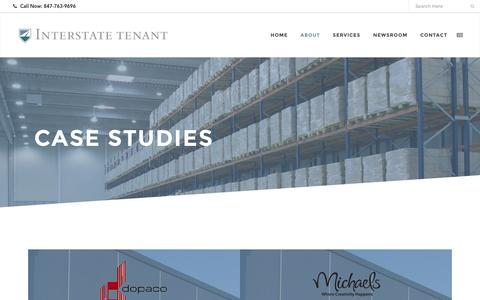 Screenshot of Case Studies Page interstatetenant.com - Case Studies - Interstate Tenant - captured Nov. 26, 2016