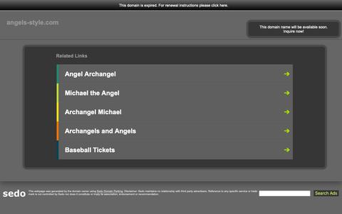Screenshot of Home Page angels-style.com - angels-style.com-This website is for sale!-angels-style Resources and Information. - captured Oct. 27, 2018