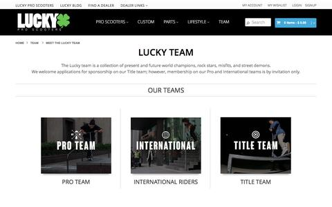 Screenshot of Team Page luckyscooters.com - Meet the Lucky team | Lucky Scooters - captured Nov. 12, 2016