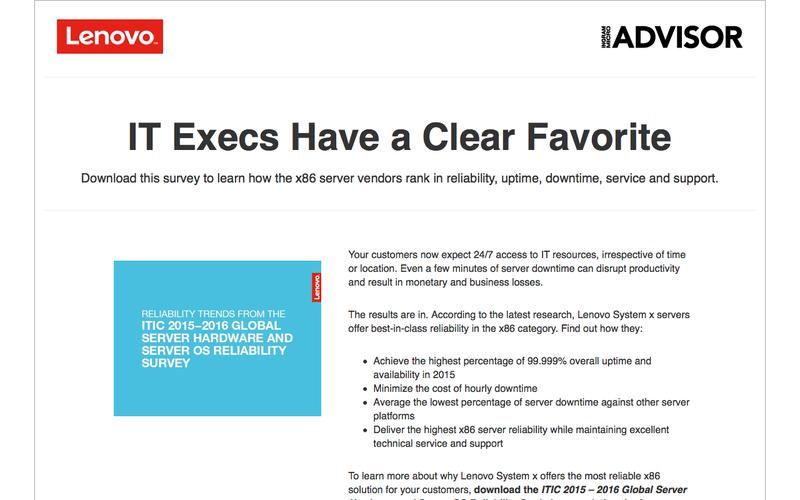 System x Global Server Survey | Ingram Micro