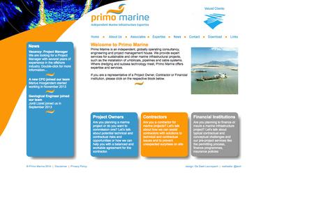 Screenshot of Home Page primo-marine.com - Home - Primo Marine - captured Sept. 30, 2014
