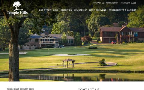 Screenshot of Contact Page clubcorp.com - Contact Us | Temple Hills Country Club - captured Oct. 20, 2018