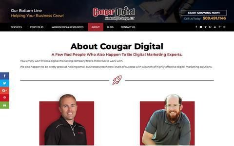 Screenshot of About Page cougardigitalmarketing.com - SEO Specialists   Website Design & Digital Marketing   Tri-Cities - captured Jan. 13, 2018