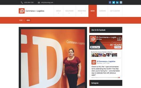 Screenshot of Press Page idcomlog.com - News - iD Commerce + Logistics - captured Feb. 4, 2017