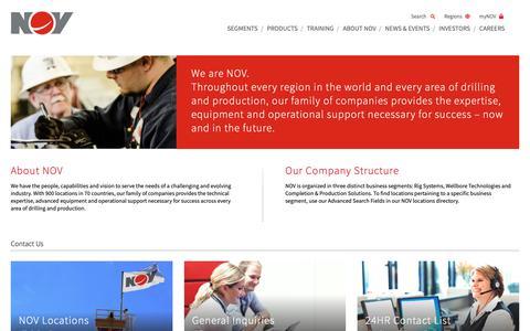 Screenshot of Contact Page nov.com - National Oilwell Varco - captured Dec. 3, 2018