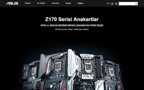 Screenshot of Home Page asus.com - ASUS Türkiye - captured Oct. 17, 2015