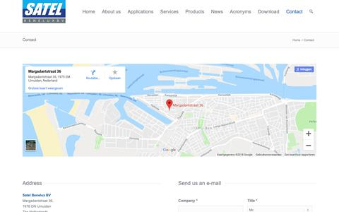Screenshot of Contact Page satelbv.nl - Contact | Satel Benelux - captured Oct. 1, 2018