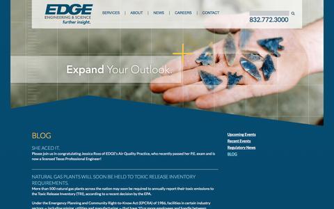 Screenshot of Blog edge-es.com - EDGE Blog - captured Jan. 23, 2016