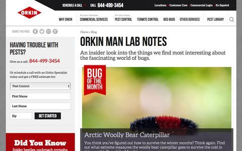 Screenshot of Blog orkin.com - Orkin Man Lab Notes - Orkin - captured Jan. 13, 2016