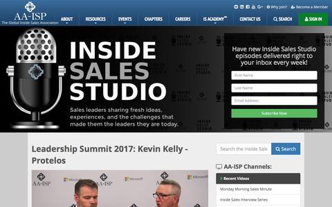 AA-ISP | Leadership Summit 2017: Kevin Kelly - Protelos