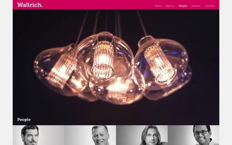 Screenshot of Team Page wallrich.us - People - Wallrich Creative Communications - captured Oct. 8, 2014