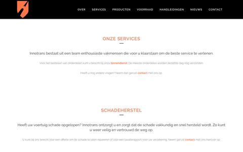 Screenshot of Services Page innotrans.nl - Innotrans |   Services - captured Nov. 6, 2018
