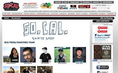 Screenshot of Team Page socalskateshop.com - Socalskateshopteam - captured Oct. 31, 2014