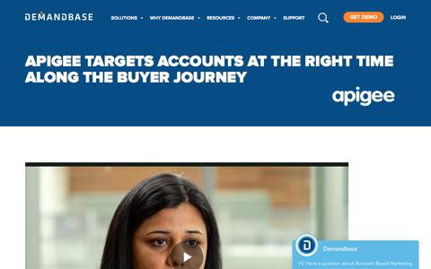 Screenshot of Case Studies Page demandbase.com - Apigee uses ABM to target the right account at the right time - captured Nov. 6, 2019