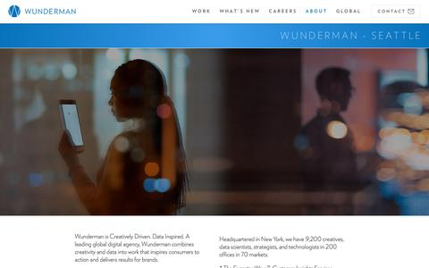 Screenshot of About Page wunderman.com - About | Wunderman - captured Feb. 1, 2018