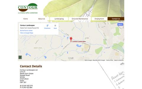 Screenshot of Contact Page contourlandscapes.com - Contour Landscapes Ltd - captured Oct. 3, 2014