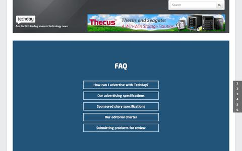 Screenshot of FAQ Page techday.com - Techday - Asia Pacific's leading source of technology news - F.A.Q - captured Oct. 2, 2015