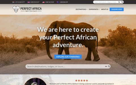 Screenshot of Home Page perfectafrica.com - Welcome to Perfect Africa | Perfect Africa - captured Dec. 7, 2018