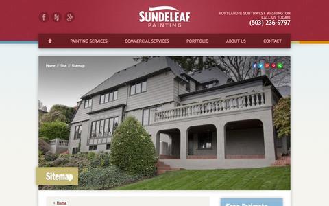 Screenshot of Site Map Page sundeleafpainting.com - Sitemap | Sundeleaf Painting - captured Oct. 7, 2014