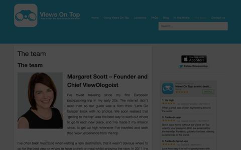 Screenshot of Team Page viewsontop.com - The team - Views on Top - captured Oct. 26, 2014