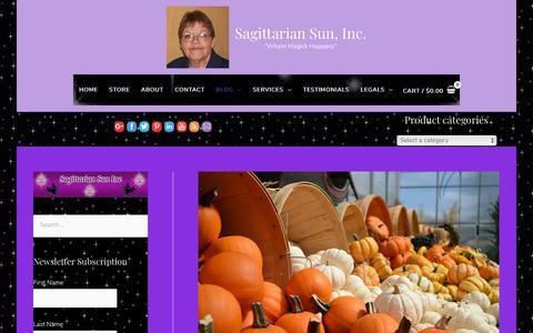 Screenshot of Blog sagsun.com - Blog - Sagittarian Sun, Inc. - captured Oct. 1, 2018