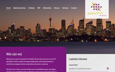 Screenshot of Home Page quality-it.eu - Quality IT Den Ham | We Connect - captured Nov. 5, 2018