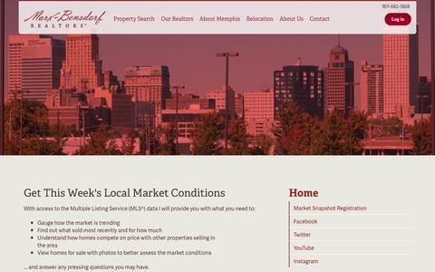 Screenshot of Signup Page marx-bensdorf.com - Market Snapshot Registration   Memphis Real Estate - captured Oct. 27, 2014