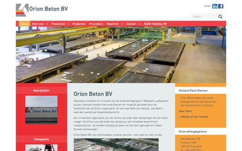 Screenshot of Home Page orionbeton.com - Orion Beton - captured Dec. 3, 2016