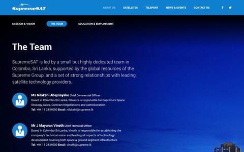 Screenshot of Team Page supremesat.com - The Team | SupremeSAT - captured Sept. 30, 2014