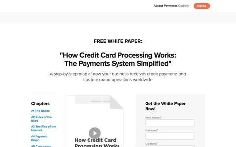 Screenshot of Landing Page 2checkout.com - How Credit Card Processing Works, Part Two - 2Checkout - captured Aug. 20, 2016