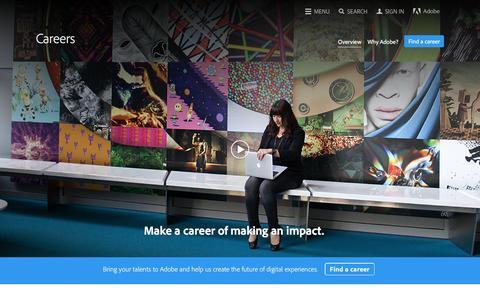Screenshot of Jobs Page adobe.com - Explore job opportunities | Adobe career - captured Oct. 8, 2016