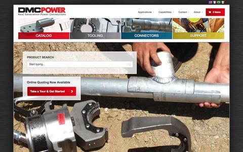 Screenshot of Home Page dmcpower.com - DMC Power - Next Generation Power ConnectorsDMC Power - Next Generation Power Connections - captured Jan. 21, 2015