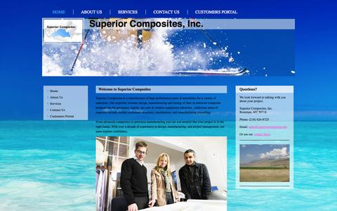 Screenshot of Home Page superiorcomposites.com - Superior Composites, Inc. - captured Oct. 7, 2014