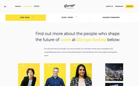 Screenshot of Team Page thegaragesociety.com -   Garage Society   Co working Space   Shared Office in Hong Kong - captured May 16, 2019