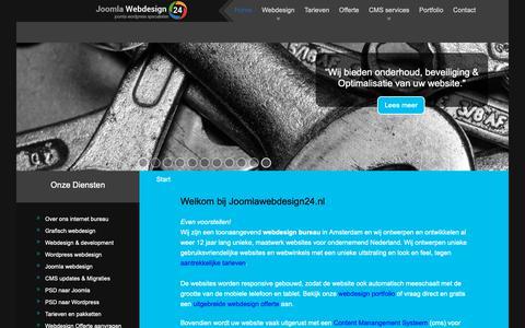 Screenshot of Home Page joomlawebdesign24.nl - Professioneel webdesign bureau Amsterdam I uniek ontwerp & cms development - captured Oct. 1, 2018