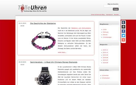 Screenshot of Blog tolle-uhren.de - Uhren & Schmuck Blog von Tolle-Uhren.de - captured June 9, 2016