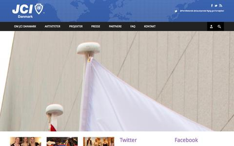 Screenshot of Home Page jci.dk - JCI Danmark   - captured Oct. 1, 2014