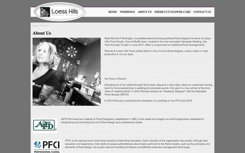 Screenshot of About Page loesshillsfloral.com - Loess Hills Floral StudioLoess Hills Floral Studio - captured Jan. 31, 2016