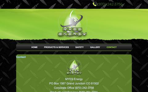 Screenshot of Contact Page myesenergy.com - contact - captured Sept. 26, 2014