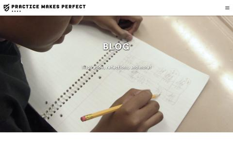 Screenshot of Blog practicemakesperfect.org - Blog — Practice Makes Perfect | Summer Learning Program | NYC - captured May 20, 2017