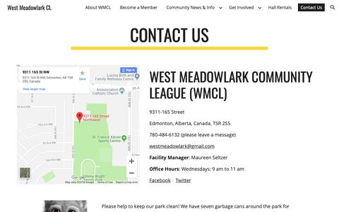 Screenshot of Contact Page google.com - West Meadowlark CL - Contact Us - captured Oct. 28, 2018