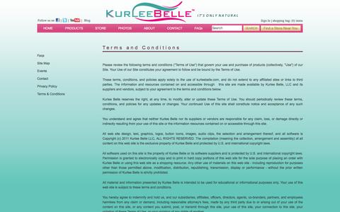 Screenshot of Terms Page kurleebelle.com - Natural Hair Care Products | Natural Ingredients | Kurlee Belle offers eco-friendly high performance hair care products for curly hair, natural hair and relaxed hair with a Tropical-Caribbean theme inspired specifically by hair recipes from the Islan - captured Jan. 9, 2016